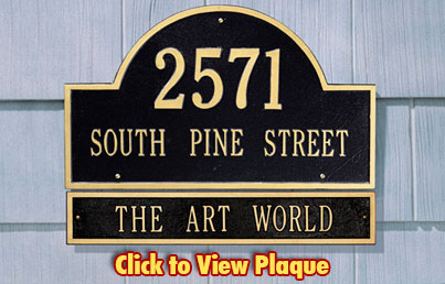 Address Plaques Made In USA   Custom House Number Signs   Personalized  Mailboxes   Outdoor Decor   Address Plaques.com