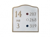 Arched Golf Montague Aluminum Plaque