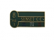 Basic Golf Montague Aluminum Plaque