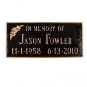 Memorial Plaque With Flower Montague Plaque