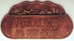Deer Sign Montague Address Plaque