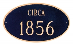 Historical Oval Montague Address Plaque