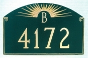 Sunfire Monogram Montague Address Plaque