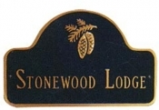 Pinecone Arch Montague Address Plaque
