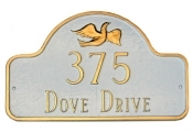 Dove Arch Montague Address Plaque