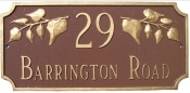 Camden Ivy Montague Address Plaque