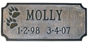Dog Paws Memorial Montague Aluminum Plaque