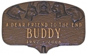 Dogs Memorial Montague Aluminum Plaque