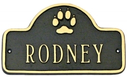 Dog Montague Aluminum Nameplate Plaque