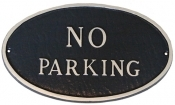 No Parking Oval Montague Aluminum Plaque