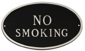 No Smoking Oval Montague Aluminum Plaque