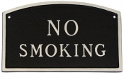 No Smoking Arch Montague Aluminum Plaque