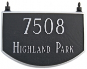 Two Sided Prestige Arch Hanging Montague Aluminum Address Plaque