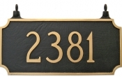 Two Sided Princeton Hanging Montague Aluminum Address Plaque
