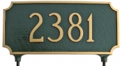 Two Sided Princeton Lawn Mount Montague Aluminum Address Plaque