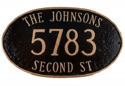 Montgomery Large Oval Montague Address Plaque