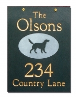 The Stone Mill One or Two Sided Hanging Slate Plaque