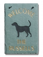 "The Stone Mill Personalized Welcome ""Dogs"" Slate Plaque"