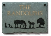 The Stone Mill Personalized Mare & Colt Slate Plaque