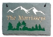 The Stone Mill Personalized Mountain Moose Slate Plaque