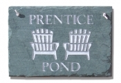 The Stone Mill Personalized Adirondack Chairs Slate Plaque