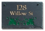 The Stone Mill Personalized Ivy Slate Plaque