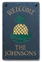 The Stone Mill Personalized Welcome Pineapple Slate Plaque
