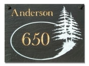 The Stone Mill Personalized Open Pine Tree Slate Plaque