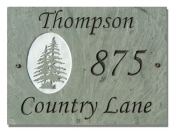 The Stone Mill Personalized Encircled Pine Tree Slate Plaque