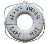"The Stone Mill Personalized 19"" Coast Guard Approved Life Rings"