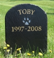 The Stone Mill Pet Memorial Round Top Slate Plaque