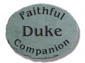 The Stone Mill Faithful Pet Memorial Slate Plaque