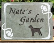 The Stone Mill Pet Memorial Garden Dog Slate Plaque