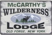 The Stone Mill Vintage Wilderness Lodge Sign