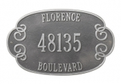 Florence Whitehall Address Plaque