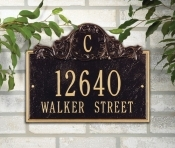 Acanthus Monogram Whitehall Address Plaque