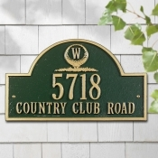 Monogram Golf Arch Whitehall Address Plaque