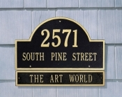 Arch Marker Whitehall Address Plaque Extension