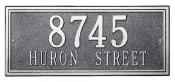 Double Line Whitehall Address Plaque