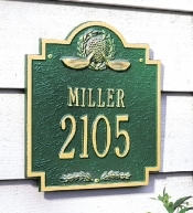 Golf Emblem Whitehall Address Plaque