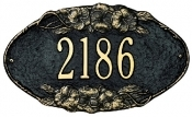 Pansy Oval Whitehall Address Plaque