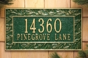 Pinecone Whitehall Address Plaque