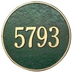 Round Address Plaques
