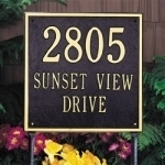 Square Address Plaques