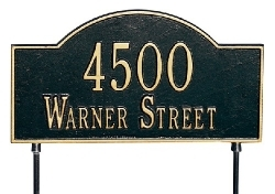 Two-Sided Arch Marker Whitehall Address Plaque